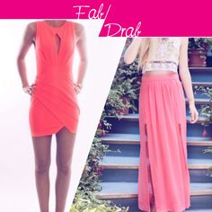 Step into the sun wearing this elegant coral pink dress or this gorgeous and long ankle length skirt.