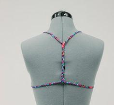 DIY Tutorial: Clothes Refashion / DIY T-Back Bikini Top - Bead&Cord