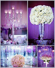 Purple and white- So pretty and elegant!