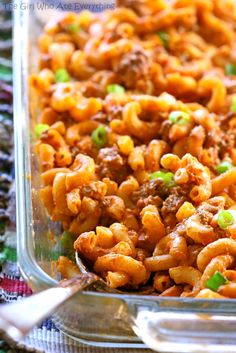 Easy Taco Bake - A pasta dish that tastes like a taco! the-girl-who-ate-everything.com