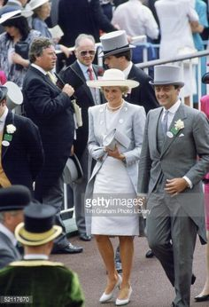 Diana Princess Of Wales With The Duke Of Westminster At Ascot Racesin... News Photo | Getty Images