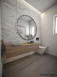 Argie Round Mirror - Solid steel carves an impressive outline to this grand statement piece. Adds light and space to any room. Available in 3 sizes. #Luxurybathrooms Bathroom Toilets, Bathroom Renos, Laundry In Bathroom, Master Bathroom, Bathroom Ideas, Bathroom Remodeling, Bathroom Stuff, Bathroom Organization, Houzz Bathroom