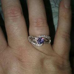 Ring Purple  CZ Beautiful Cubic Zirconia  Ring Purple size 8 Costume Jewelry Jewelry Rings