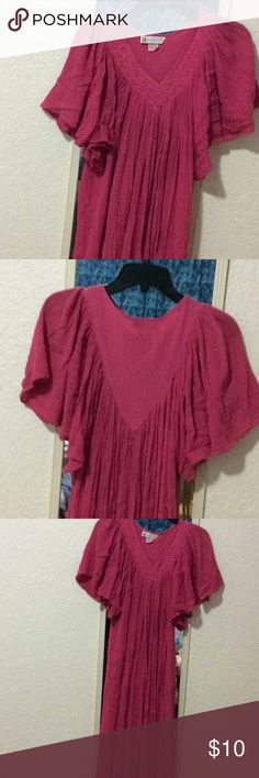 Dress Pink one size fits all, flowy, house dress Vandemere Dresses Midi