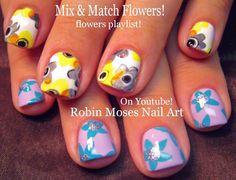 Watercolor Flower Nails! #nailart #nails #nail #art #howto #nailart #flowers #diy #design #tutorial #watercolor #cute #lavender #flower #daisy #flowers #trendy #cute #fun #easy #simple #diy #summer