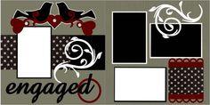 Engaged Scrapbook PageKit. $8.00