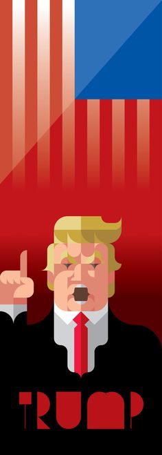 @Behance マイプロジェクトを見る : 「DONALD TRUMP」 https://www.behance.net/gallery/57149025/DONALD-TRUMP