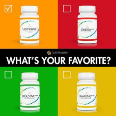 Which is your favorite? #Laminine #Omega #Digestive #Immune #Health #Supplements #Vote
