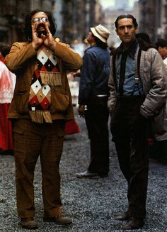 Robert De Niro and Francis Ford Coppola on the set of The Godfather Part II