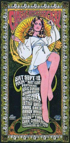 Eric Burdon/War Concert Poster by Bob Masse Rock Posters, Band Posters, Vintage Concert Posters, Vintage Posters, Eric Burdon, Rock N Roll, Art Nouveau, Hippie Art, Festival Posters