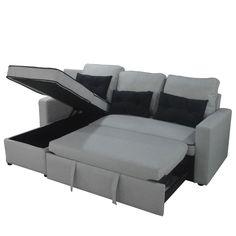 Καναπές γωνία BELITA γκρι 196x143x84εκ. HOME-PLUS 01.01.0731