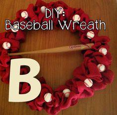 Meet me in St. Louis: DIY Baseball Wreath