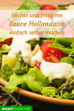 Wenn du Sauce Hollandaise bisher aufgrund ihrer Kalorienzahl gemieden hast, dann probiere es doch mal mit dieser leichten, aber genauso leckeren Alternative!