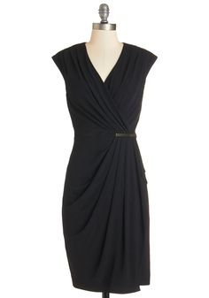 Absolute Powerhouse Dress. When enveloped in the smooth stretch-knit of this sultry sheath dress, you confidently command every room you enter. #black #modcloth