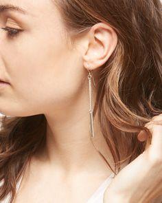 Made Rectangle Drop Earrings