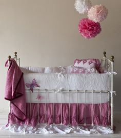 "gorgeous vintage style baby bedding. I think this might be ""the one"" for Khloe."