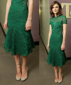 Keira Knightley in a dress from Burberry Prorsum's Spring/Summer 2013 collection.
