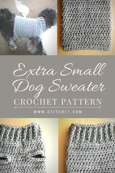 Extra Small Dog Sweater Crochet Pattern Here s a comfy crocheted sweater for yo Extra Small Dog Sweater Crochet Pattern Here s a comfy crocheted sweater for your little furry dog I m sure they will look good on this cute Crochet Dog Sweater Free Pattern, Dog Coat Pattern, Crochet Dog Patterns, Crochet Coat, Sweater Patterns, Crochet Sweaters, Pet Sweaters, Small Dog Sweaters, Small Dog Coats