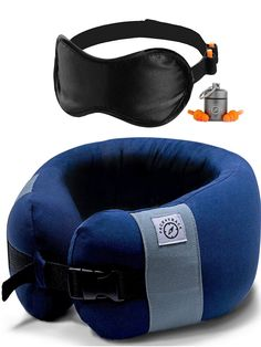 Travel Pillow is a Neck Pillow for Airplane Travel - A One Size Plane Pillow with The Best Adjustable Neck Support Navy Blue Utensils-Gadgets Peelers-Slicers Drinkware Mugs-Tumblers Blankets Office Furniture Supplies Plat
