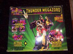 Mighty Morphin Power Rangers Thunder Megazord MMPR RARE packaging