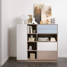 Modellen Colombo, fåes i utallige farger og kan tilpasses på mål. Schmidt, Shelving, The Unit, Home Decor, Homemade Home Decor, Shelves, Shelf, Open Shelving, Interior Design