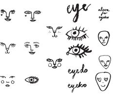 Alexa's first ever doodles for British beauty brand Eyeko