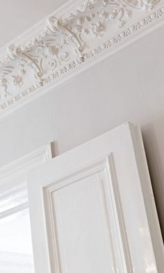 Crown molding for dining room..... (realistic depending on how much it costs and if I can do it myself lol)