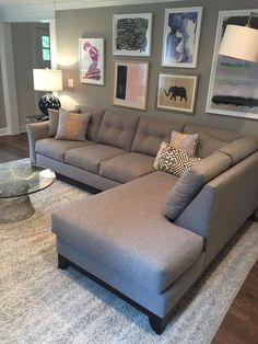 13 Best Sectional sofa layout images | House decorations, Living ...