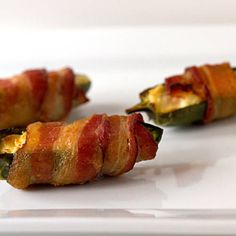 Bacon wrapped Jalapeno Poppers - used 8 oz. salsa cream cheese mixed with 8 oz. of shredded Kraft Mexican cheese. Worked best at 400 degrees for 30 minutes in my oven. Yummy Appetizers, Appetizer Recipes, Snack Recipes, Cooking Recipes, What's Cooking, Cheese Recipes, Beef Recipes, Cream Cheese Stuffed Jalapenos, Stuffed Peppers