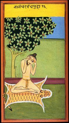 Indian miniature from a yoga codex Om Namah Shivaya, Indiana, Yoga Painting, Indian Yoga, Yoga Illustration, Dream Catcher Art, Ayurveda Yoga, Chakra Art, Islamic Paintings