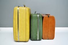 Vintage Tawny Brown Suitcase by thewhitepepper on Etsy