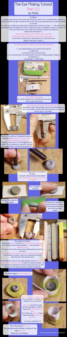 So, i'm making eyes, but don't accept international commissions. I got many requests to do this tutorial. Since i haven't seen any doll eye making tutorials all around the internet i find out...