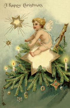 Vintage Christmas Postcard by Suzee Que, via Flickr