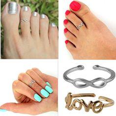 Celebrity Fashion Simple Retro Infinity Adjustable Toe Ring Foot Beach Jewelry #UnbrandedGenenic