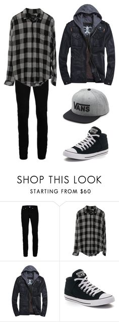 """Guys outfit for anon"" by edgy-penguin33 ❤ liked on Polyvore featuring Topman, Converse, Vans, men's fashion and menswear"