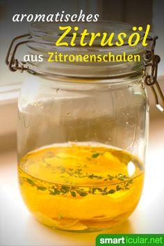 Bio-Zitronenschalen nicht wegwerfen: Du kannst sie ganz einfach zu einem köstlichen Zitrusöl verarbeiten und zum Marinieren von Salaten, Fisch, Fleisch und Pasta verwenden.