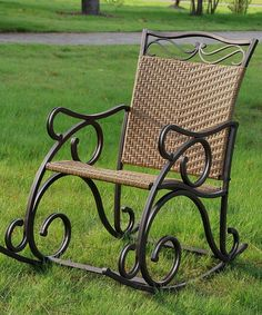 Look at this Honey Valencia Wicker Resin Patio Rocker on #zulily today!