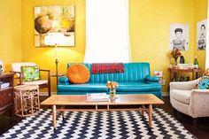 Vintage living room.