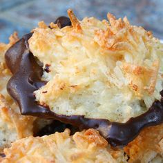 chocolate dipped coconut macaroons yummy