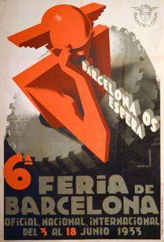 MORELL MACÍAS, Josep (Valencia, 1899 - Barcelona, 1949). 'Spanien', cartel. Barcelona, Graf. Marí Martí, 1933. Litografía, 66 x 100 cm.(Fuente: Original Poster Barcelona)