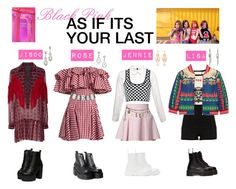 """BLACKPINK-AS IF ITS YOUR LAST"" by miinzuu ❤ liked on Polyvore featuring Just Cavalli, Dr. Martens, Alexander Wang, Gucci, Moschino, River Island, Anna Sui, House of Holland, Paco Rabanne and UNIF"