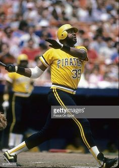 CIRCA Outfielder Dave Parker of the Pittsburgh Pirates swings and watches the flight of his ball during a circa Major League Baseball. Mlb Pirates, Pittsburgh Pirates Baseball, Pittsburgh Sports, Best Baseball Player, Baseball Star, Better Baseball, Nba Stars, The Outfield, School Sports