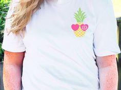Preppy Pineapple Monogram  Tee Shirt  Pineapple  by crownandhoney