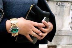 #JewellerySteetStyle #JewelleryTrends #JewelryTrends #jewelleryoftheday #jewelryoftheday #Jewellery #Jewelry #trends #Adorn #AdornLondon #MilanFashionWeek #StreetStyle #rings #gold #emerald #bangle