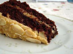 Chocolate cola cake with toasted coconut-almond frosting / Bolo de Coca-Cola e chocolate com recheio e cobertura de coco e amêndoa by Patricia Scarpin, via Flickr