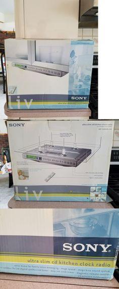 CD Players and Recorders: Sony Liv 2 Ultra Slim Cd Kitchen Clock Radio - Icf-Cd553liv2 Nib -> BUY IT NOW ONLY: $49.99 on eBay!