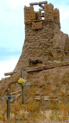 Adobe tower, Taos NM