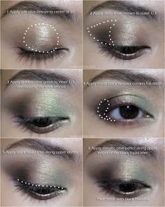 A golden-green and bronze iridescent eye featuring MAC's Golden Olive pigment! Click picture to view finished eye look and full product listing!