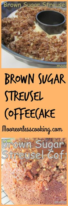 Brown Sugar Streusel Coffee Cake: Andrew's favorite; birthday Double streusel and drizzle powdered sugar icing Crumb Coffee Cakes, Streusel Coffee Cake, Crumb Cakes, Sour Cream Coffee Cake, Brunch Recipes, Cake Recipes, Dessert Recipes, Top Recipes, Coffee Recipes