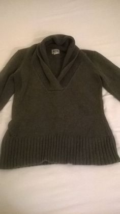 One Star Converse Gray Knit Sweater - Size XS #Converse #VNeck